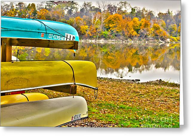 Canoe Photographs Greeting Cards - Summers Over Greeting Card by Jack Schultz