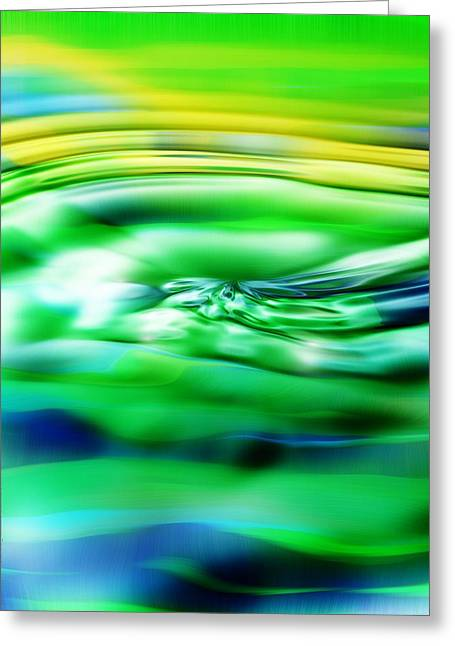Reflecting Water Digital Art Greeting Cards - Summertime Greeting Card by Mimulux patricia no