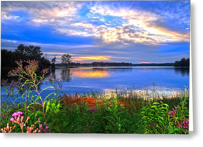 Randall Branham Greeting Cards - Summertime Walk Around Lake  Greeting Card by Randall Branham