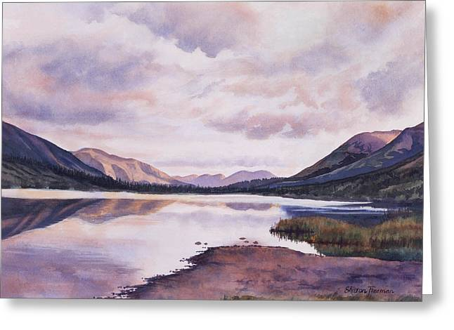 Lake Greeting Cards - Summit Lake Evening Shadows Greeting Card by Sharon Freeman