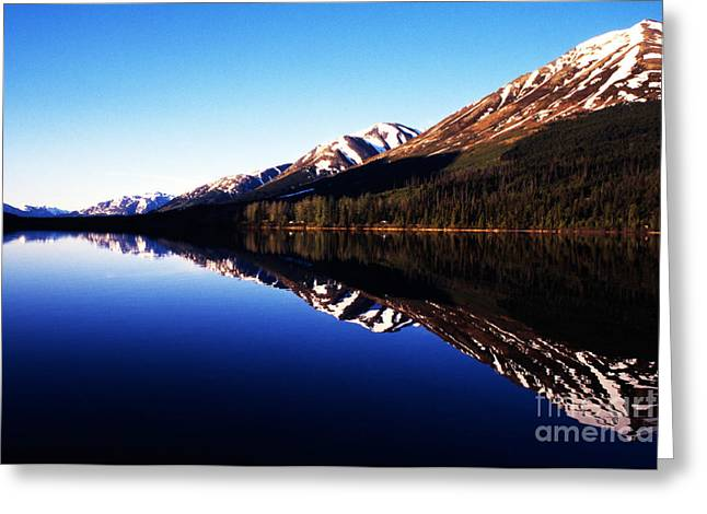 Pm Greeting Cards - Summit Lake Reflections Greeting Card by Thomas R Fletcher