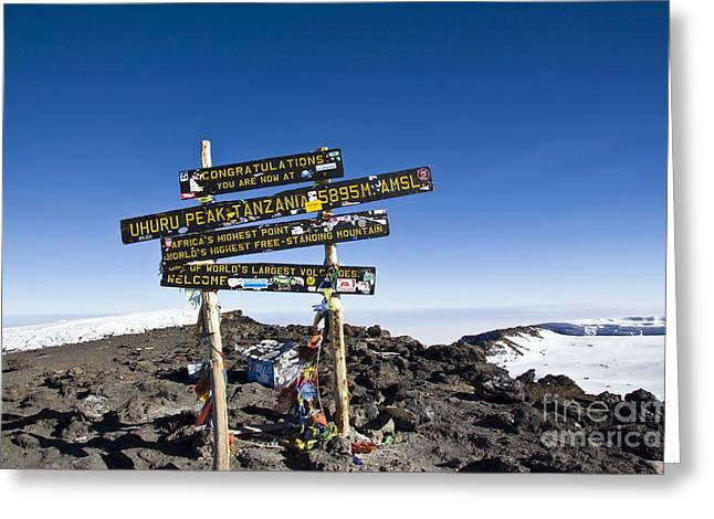 Scotts Scapes Greeting Cards - Summit of Kilimanjaro Greeting Card by Scotts Scapes