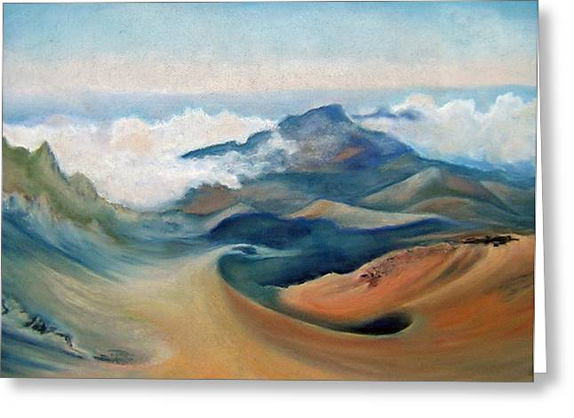 ; Maui Pastels Greeting Cards - Summit of Mt. Haleakala Greeting Card by Lorraine McFarland
