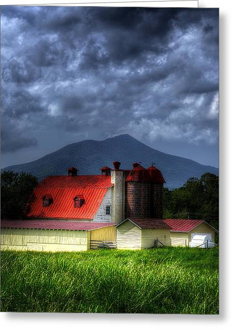 Red Roofed Barn Greeting Cards - Sun after a Storm Greeting Card by Steve Hurt