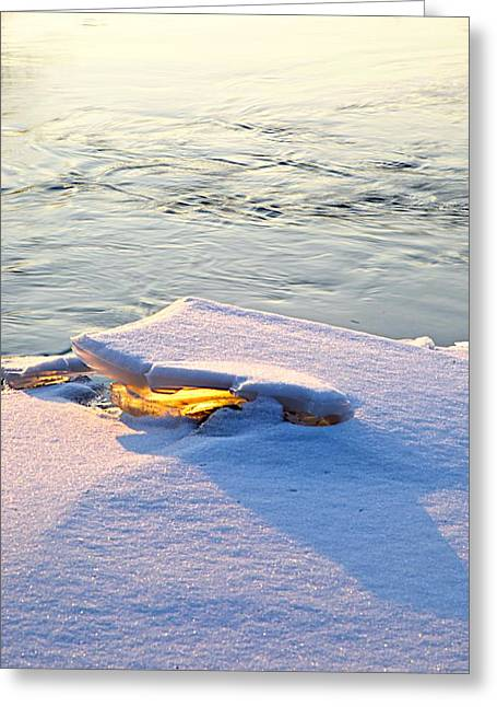 Pastel Artwork Greeting Cards - Sun and ice Greeting Card by Robert Pearson