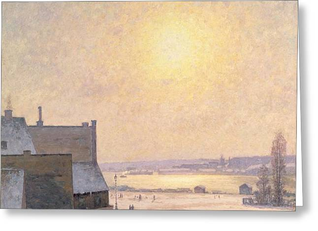 Sun and Snow Greeting Card by Per Ekstrom