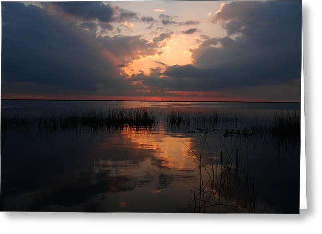 Sun Behind Clouds Greeting Cards - Sun behind the clouds Greeting Card by Susanne Van Hulst