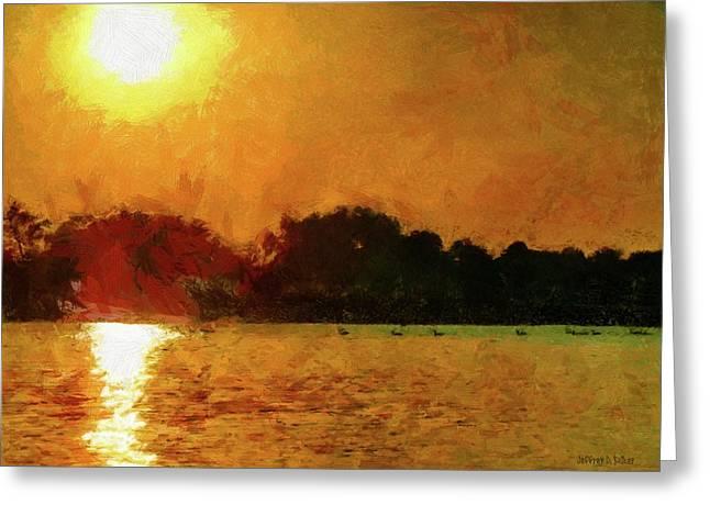 Lake Greeting Cards - Sun Burned Greeting Card by Jeff Kolker