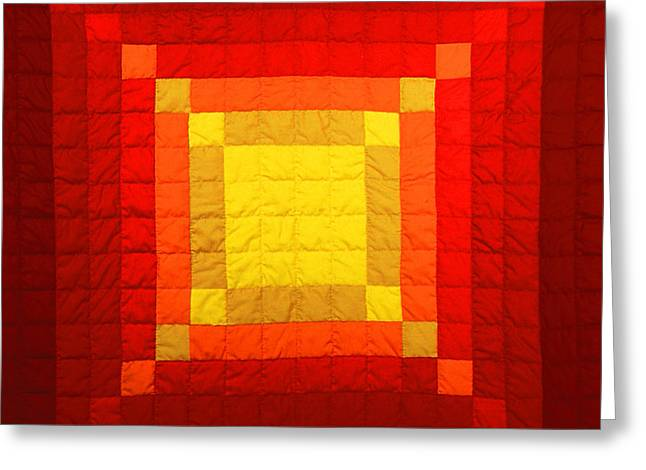Bass Tapestries - Textiles Greeting Cards - Sun Burst Greeting Card by Mildred Thibodeaux