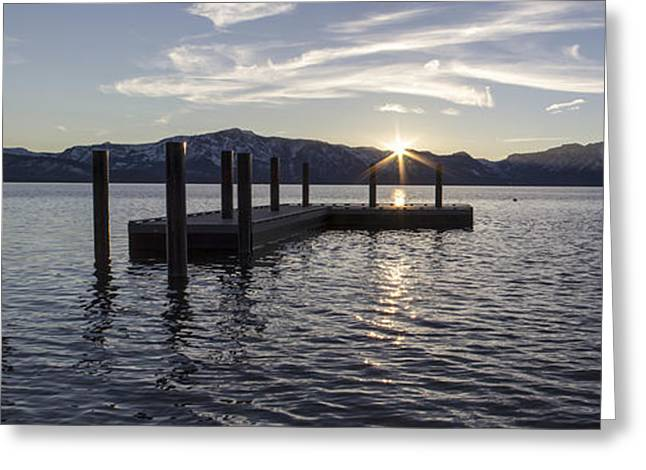 Amazing Sunset Greeting Cards - Sun Burst over Mt Tallac Greeting Card by Brad Scott