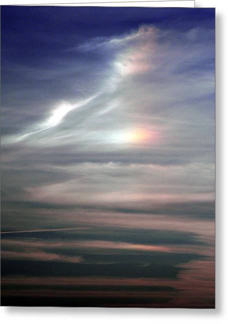 Phantom Dog Greeting Cards - Sun Dogs Greeting Card by Christy Usilton