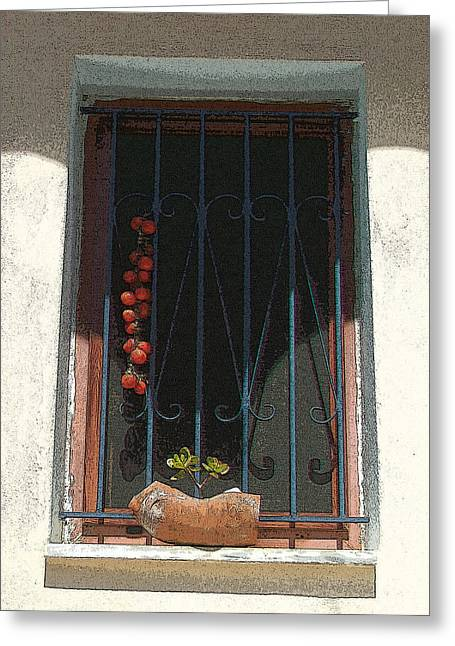 Chios Greeting Cards - Sun-dried tomatoes - Tomates secados al sol  Greeting Card by Rezzan Erguvan-Onal