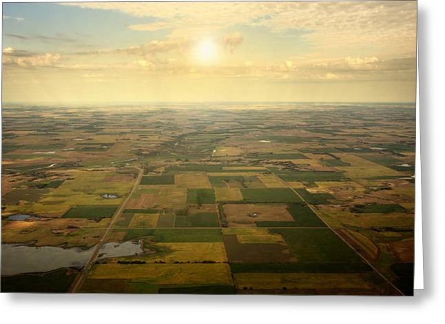Arial Greeting Cards - Sun on Horizon Greeting Card by Patrick Ziegler