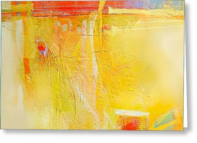 Sun On Wall Greeting Card by Dale  Witherow