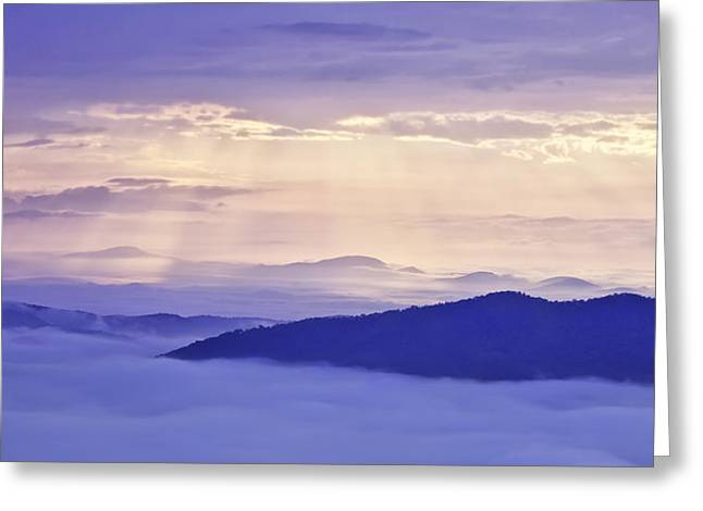 God Beams Greeting Cards - Sun Rays on the Parkway Greeting Card by Rob Travis