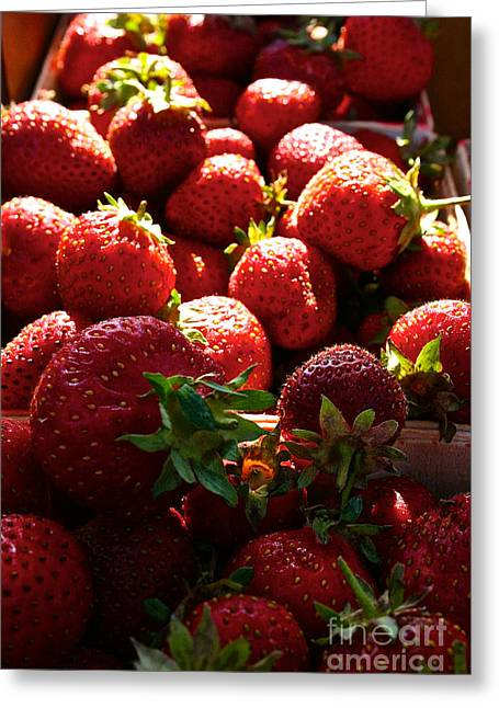 Locally Grown Greeting Cards - Sun Ripened Greeting Card by Susan Herber