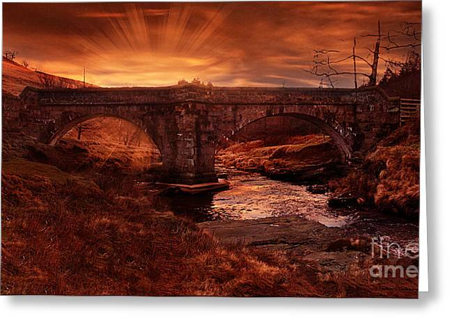 Packhorse Greeting Cards - Sun Rise At Slippery Stones Greeting Card by Nigel Hatton