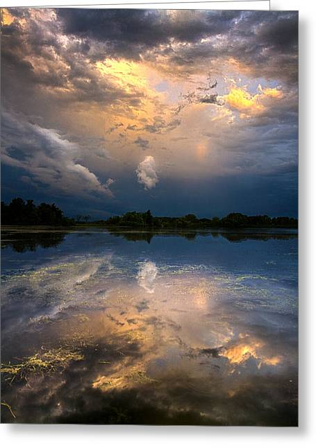 Summer Storm Greeting Cards - Sun Risen Reflections Greeting Card by Phil Koch