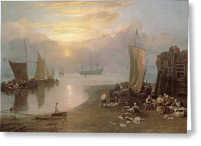 Cleaning Greeting Cards - Sun Rising Through Vapour Greeting Card by Joseph Mallord William Turner