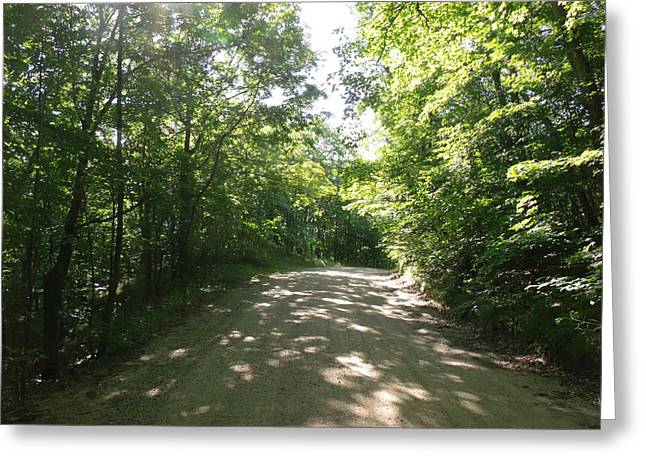Sun Speckled Dirt Road Greeting Card by Brian  Maloney