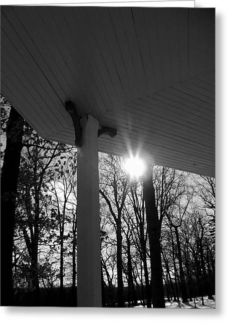 Mohawk Park Greeting Cards - Sun Spot Greeting Card by Corinne Elizabeth Cowherd