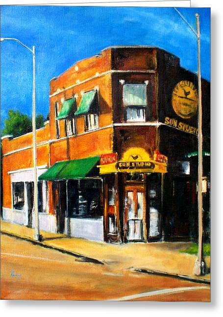 And Jerry Lee Lewis Greeting Cards - Sun Studio - Day Greeting Card by Robert Reeves