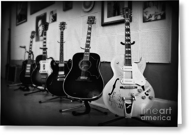 Rock N Roll Photographs Greeting Cards - Sun Studio Classics 2 Greeting Card by Perry Webster