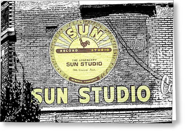 Tennessee Landmark Mixed Media Greeting Cards - Sun Studios Greeting Card by Rick Thiemke