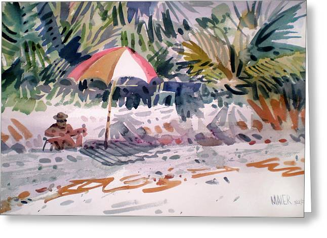 Captiva Greeting Cards - Sunbather Greeting Card by Donald Maier
