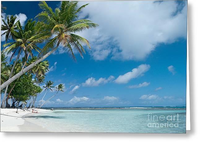 Sunbathing Greeting Cards - Sunbathing Tahitian style Greeting Card by Jim Chamberlain