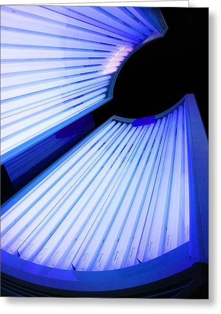 Sunbed Greeting Cards - Sunbed Greeting Card by Veronique Leplat