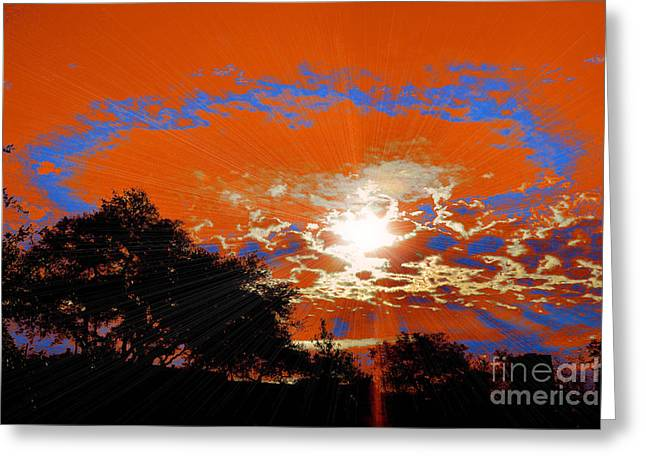 Sun Breakthrough Greeting Cards - Sunburst Greeting Card by RJ Aguilar