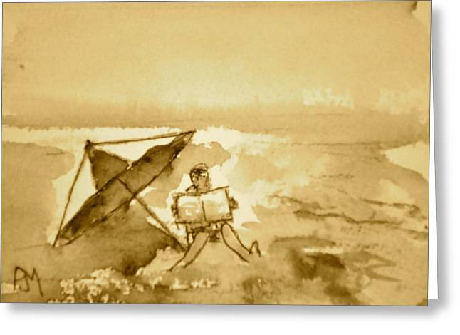 Sunday Mornin Sepia Greeting Card by Pete Maier
