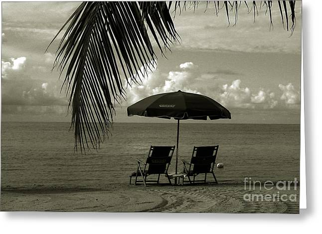 Monochrome Greeting Cards - Sunday Morning in Key West Greeting Card by Susanne Van Hulst