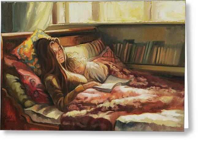 Daybed Greeting Cards - Sunday Morning Greeting Card by Jonel Scholtz