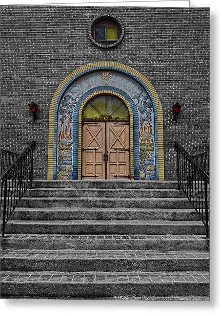 Edmonton Photographer Greeting Cards - Sunday Stairs  Greeting Card by Jerry Cordeiro