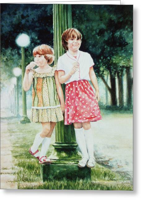Children Ice Cream Greeting Cards - Sunday Treat Greeting Card by Hanne Lore Koehler