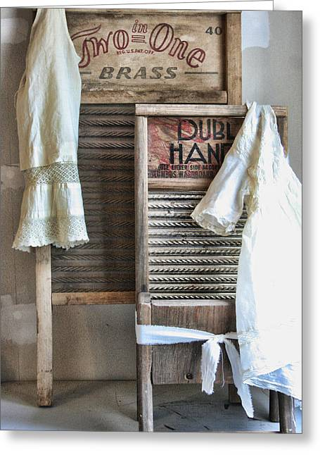 Washing Machine Greeting Cards - Sundays Best Greeting Card by Marcie  Adams