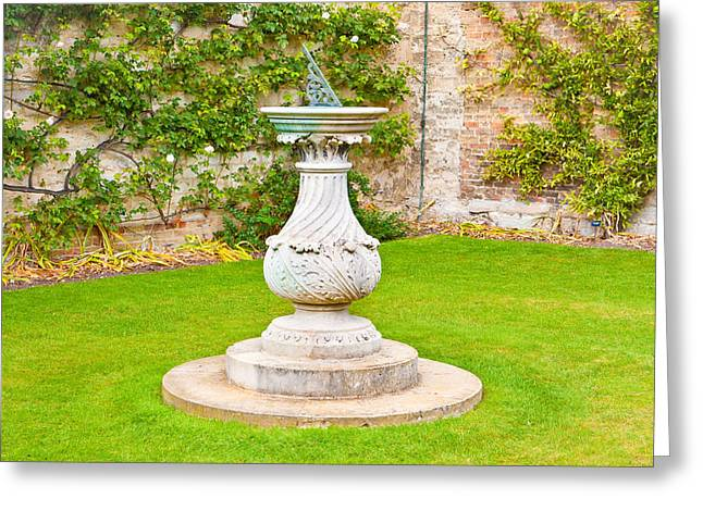 Craft Greeting Cards - Sundial Greeting Card by Tom Gowanlock