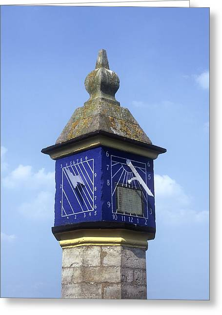 Countess Greeting Cards - Sundials On The Countess Pillar, Cumbria Greeting Card by Martin Bond