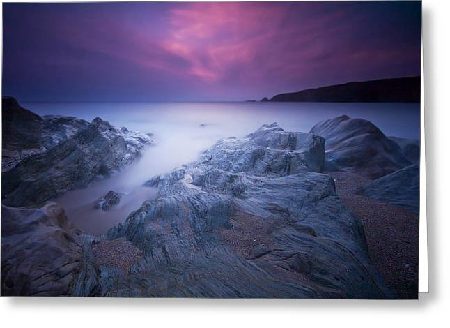 Beach Decor Posters Greeting Cards - Sundown At Leas Foot Greeting Card by Mark Leader