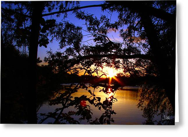 Unset Greeting Cards - Sundown Greeting Card by John Hebb