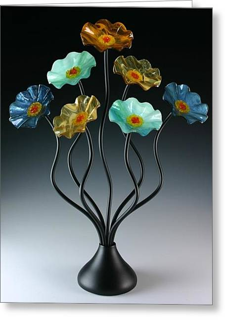 Table Glass Art Greeting Cards - Sundrella Greeting Card by Scott Johnson