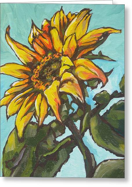 Sunflower 1 Greeting Card by Sandy Tracey