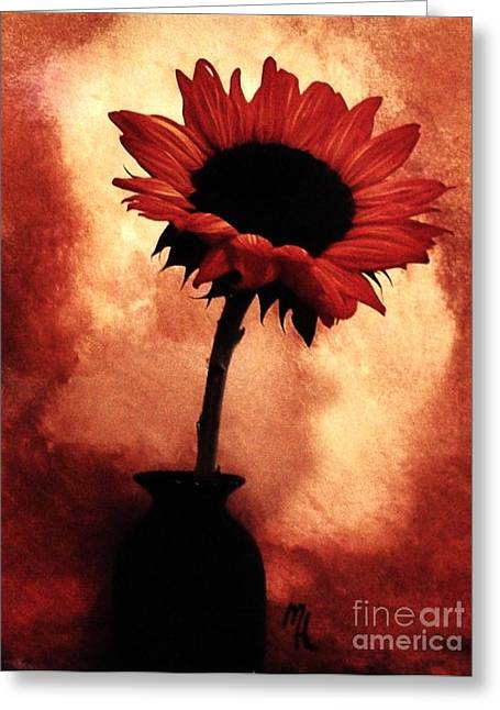 Dk Greeting Cards - Sunflower All Aglow Greeting Card by Marsha Heiken