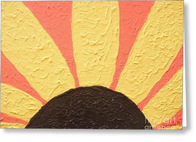 Jordan Paintings Greeting Cards - Sunflower Burst Greeting Card by Jeannie Atwater Jordan Allen