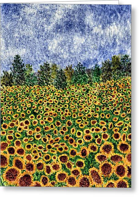 Thom Glace Greeting Cards - Sunflower Galaxy Greeting Card by Thom Glace