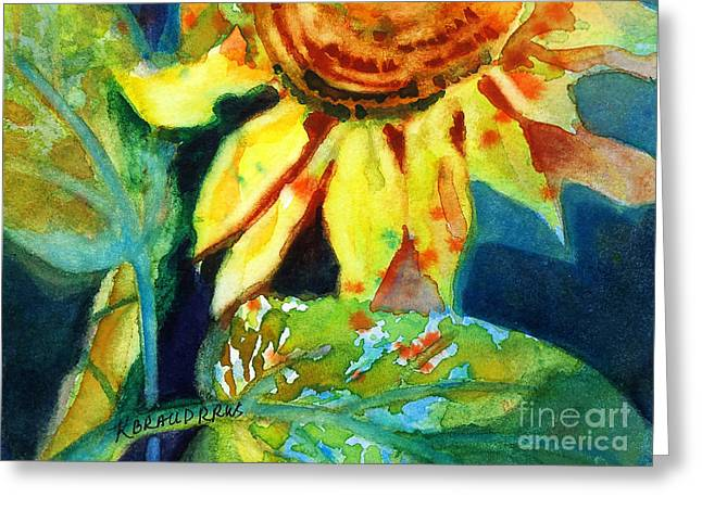 Raw Sienna Greeting Cards - Sunflower Head 4 Greeting Card by Kathy Braud