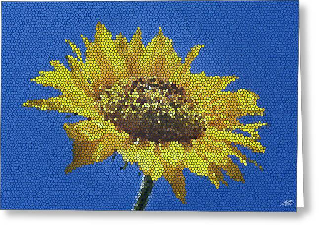 Sunflower Mosaic Greeting Card by Steve Huang