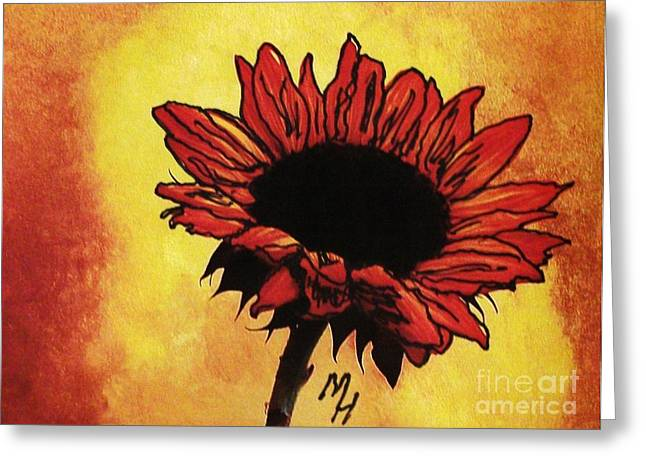 Dk Greeting Cards - Sunflower Passion Greeting Card by Marsha Heiken